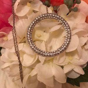 Sterling silver/swarovskicrystal necklace